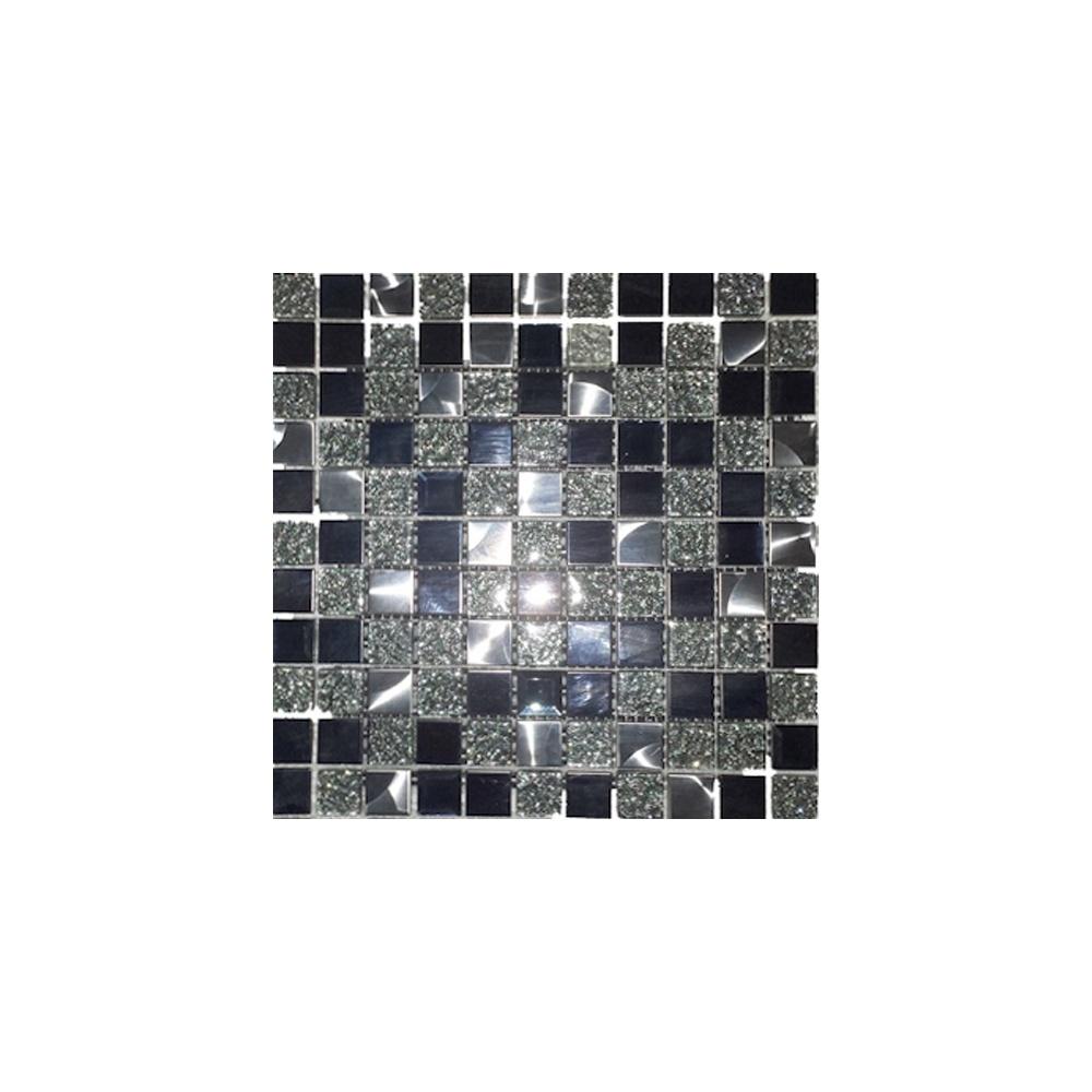 black diamond 30cm x 30cm mosaic tile wall tiles from dantotsu uk