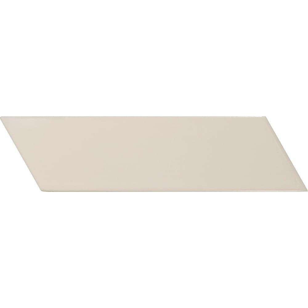 3cac9c81b07 Chevron Cream Right 18.6 x 5.2cm Wall Tile PER BOX - Wall Tiles from  Dantotsu UK