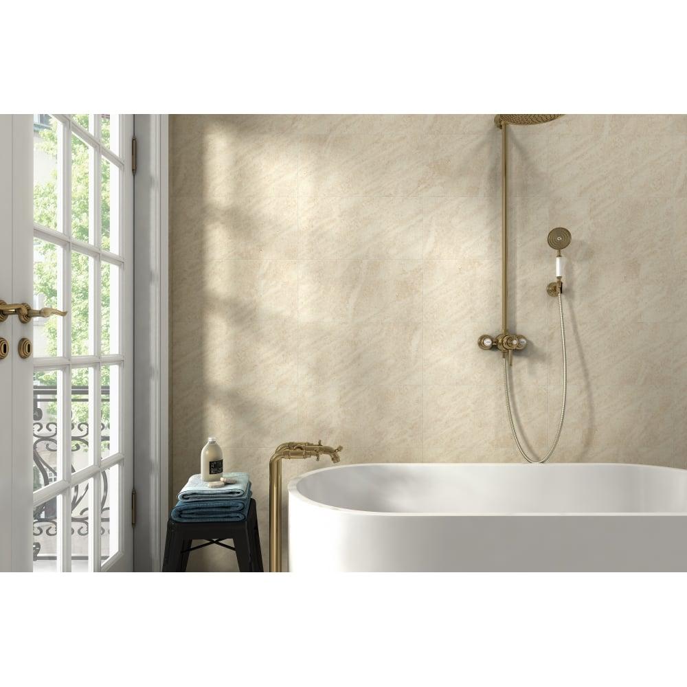 Darwin Cream 20cm X 50cm Wall Floor Tile Wall Tiles From Dantotsu Uk