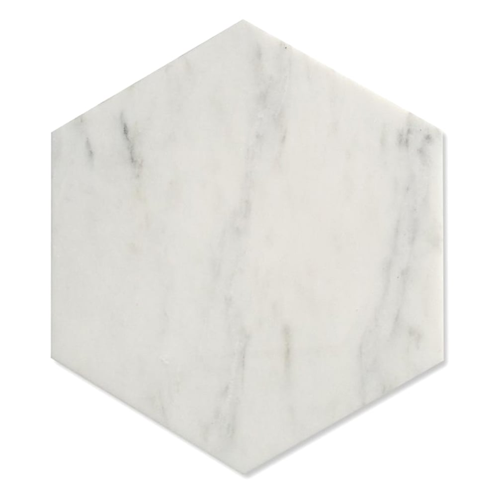 Hexagon carrara matt 175cm x 20cm wall floor tile marble hexagon carrara matt 175cm x 20cm wall amp floor tile dailygadgetfo Images