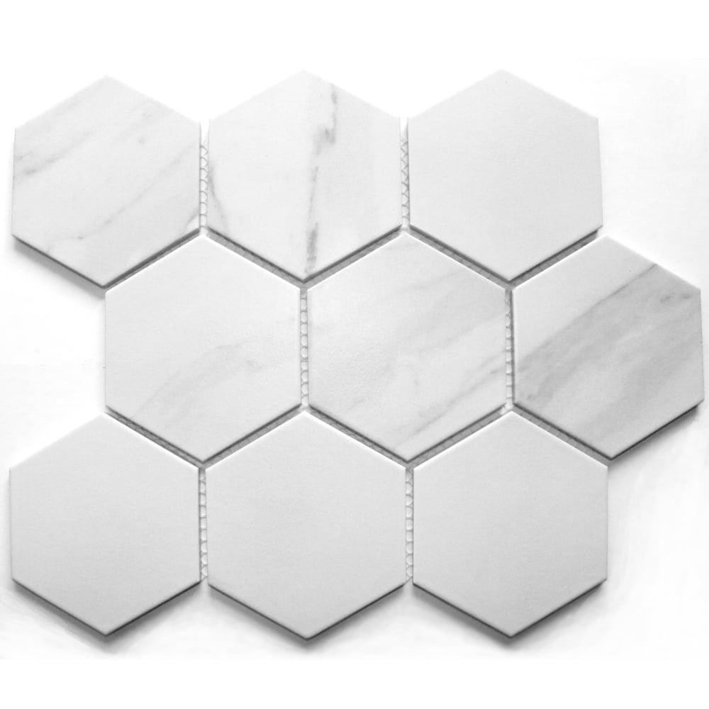 hexagon staturio matt 9 5cm x 9 5cm mosaic tile