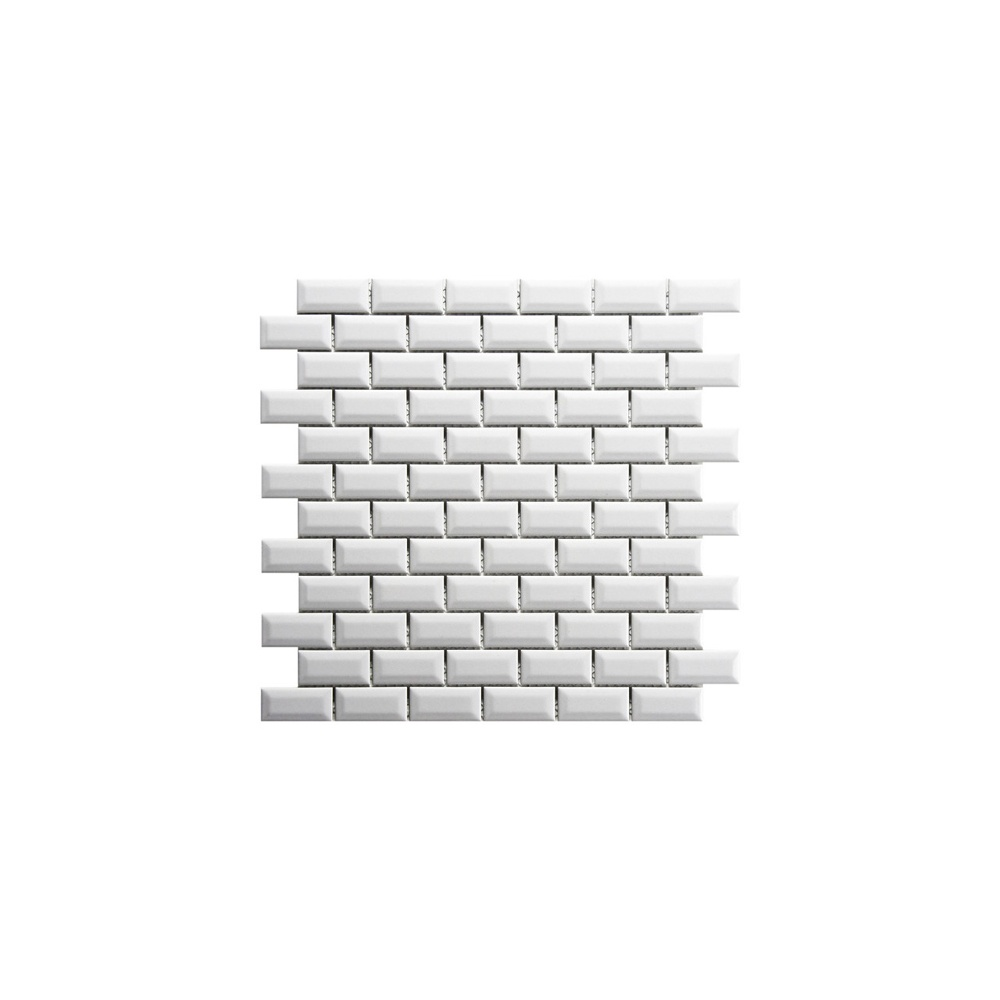 shapes mini metro bevel gloss white 2 3cm x 4 8cm mosaic tile wall
